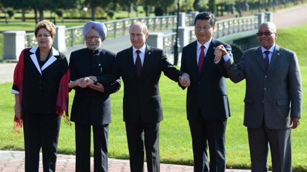 BRICS Leaders celebrate their new Bank