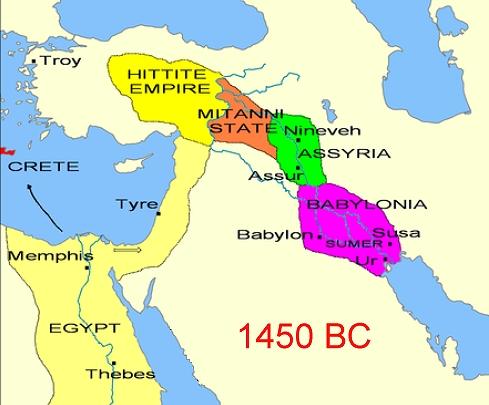Canaan 1450 BC